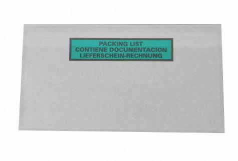 Lieferscheintaschen aus recyceltem Material recycelbar und ohne Plastik für Lieferscheine und Rechnungen DIN LANG
