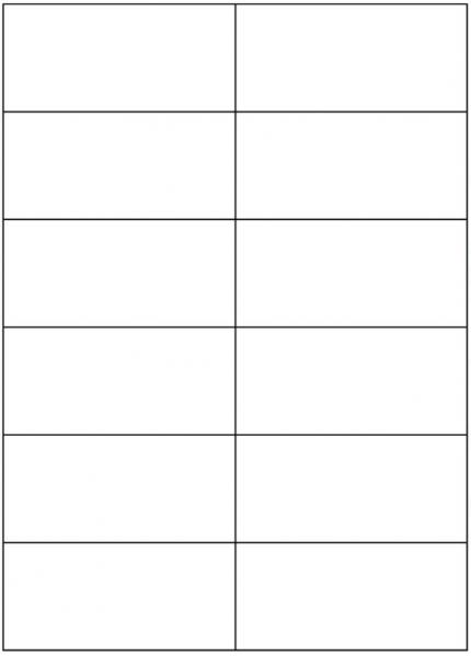 Papier-Etiketten auf DIN A4 Bogen 12 Stück