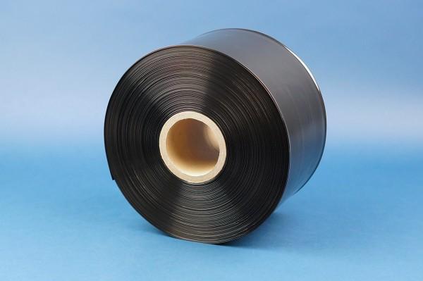 schwarze blickdichte LDPE Schlauchfolie auf Rolle in 100 my Stärke von Nordwerk Verpackungen