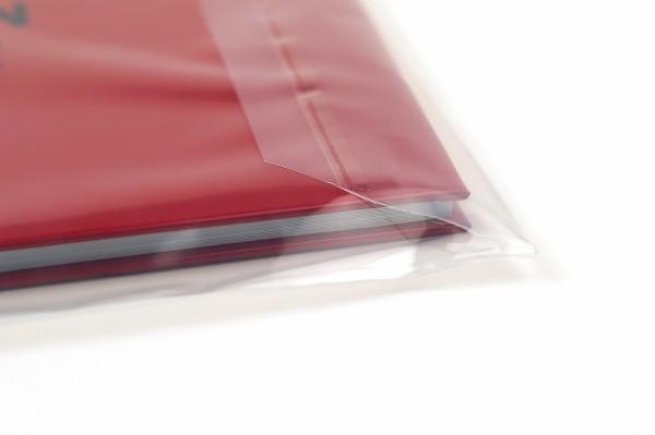 Klappenbeutel mit Selbstklebeverschluß wiederverschließbar aus LDPE Folie