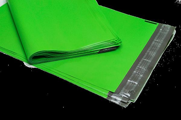 grüne Folien Versandbeutel mit Selbstklebestreifen, Adhäsionsklappenbeutel Klappenbeutel LDPE mit Adhäsionsverschluss