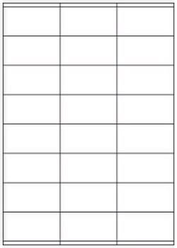 Papier-Etiketten auf DIN A4 Bogen 24 Stück
