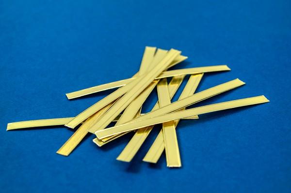 Verschlussstreifen für Beutel in weiß oder gold für Blockbodenbeutel oder Kreuzbodenbeutel