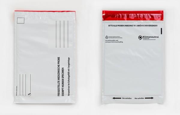 Versandbeutel für freigestellte Proben - Labor Probenversand PCR Test P650 P 650 light UN3373