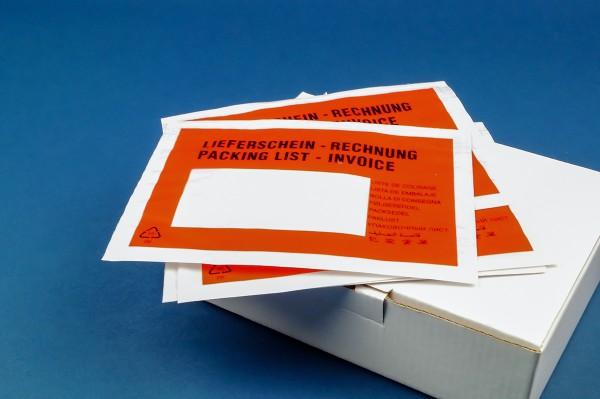 Selbstklebende Dokumententaschen für Lieferscheine und Rechnungen - Warenbegleittaschen von Nordwerk Verpackungen